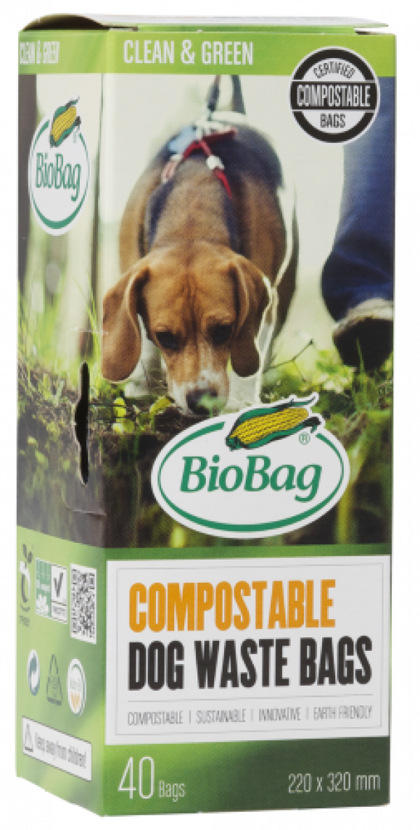 Bio Bag Dog on Roll Box