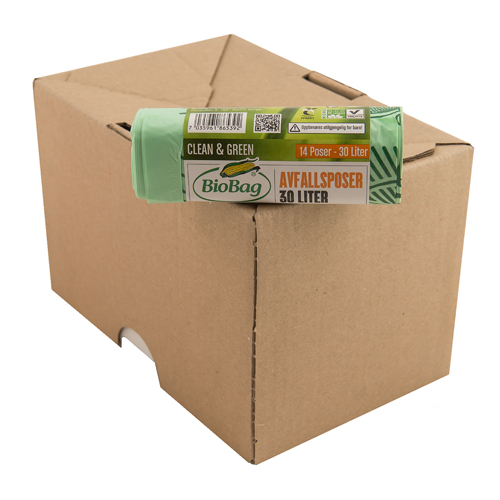 BioBag 30L banded retail roll of bags Carton