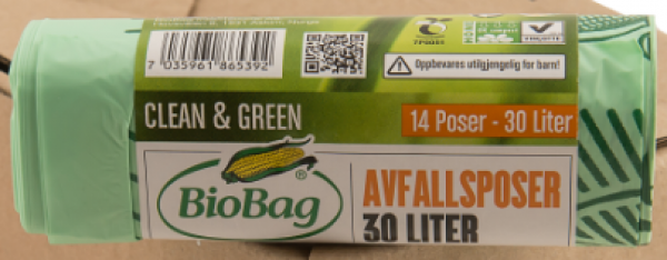 BioBag 30L banded retail roll of bags