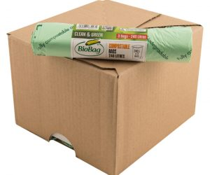 BioBag 240L Superline retail roll of bags Carton